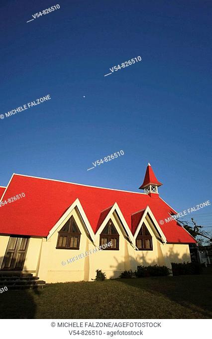 Notre Dame Auxiliatrice Church, Cape Malheureux, Mauritius, Indian Ocean