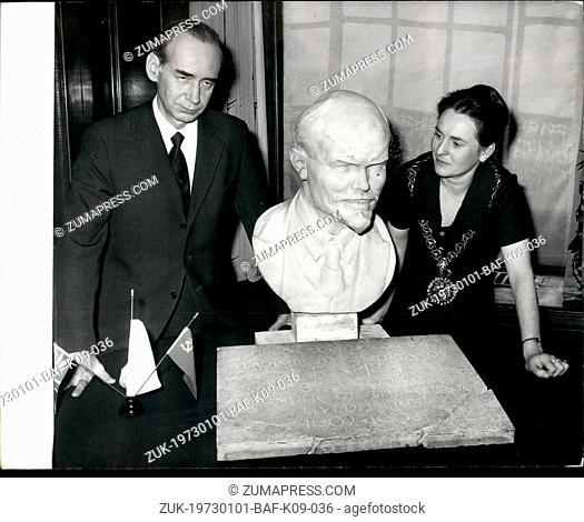 Jan. 01, 1973 - Russian Ambassador receives Lenin Plaque: The Russian Ambassador, Mr. Mikhail Smirnovsky, was today presented with a plaque which once marked...