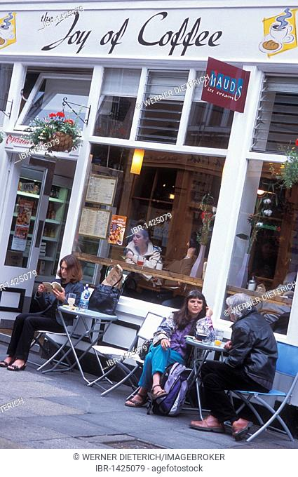 Cafe and restaurant, The Joy of Coffee, Temple Bar, guests, Dublin, Ireland, Europe