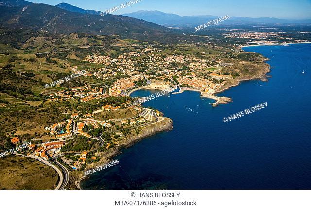 Royal Fort, Château Royal de Collioure, Port of Collioure, Mediterranean coast, Mediterranean Sea, Collioure, Pyrénées-Orientales department, Occitanie region