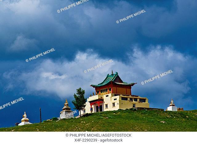 Mongolia, Arkhangai province, Tsetserleg, buddhist monastery