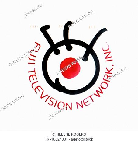 Tv channel logo fuji television japan Stock Photos and Images | age