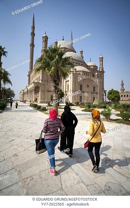 Around the Mosque of Mohamed Ali. Classic Turkish style, crowns the Citadel of Saladin. . Cairo, Egypt