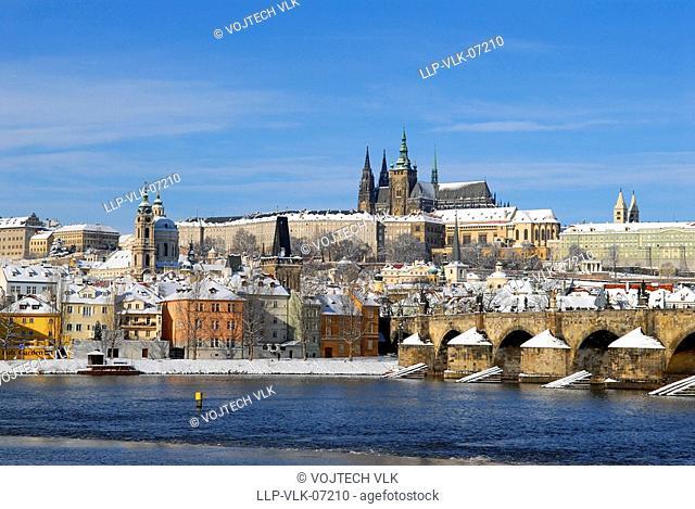 Historic Prague in winter