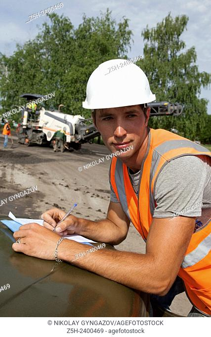 Russia. Belgorod region. Construction and reconstruction of roads in rural areas. Traffic experts