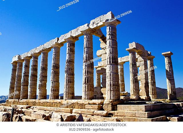 The temple of Poseidon at cape Sounio
