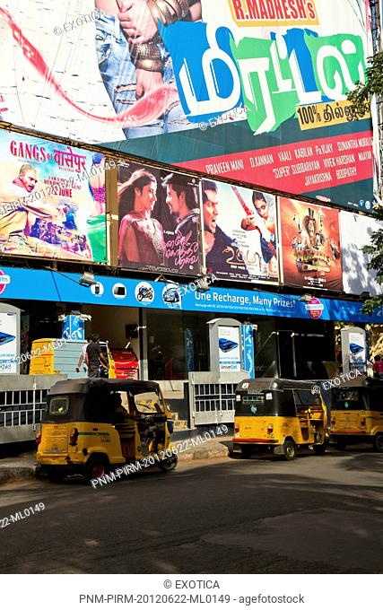 Movie theater in a city, Chennai, Tamil Nadu, India