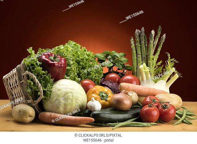 Seasonal vegetables, food, vegetables, Basket of vegetables,Natural product,