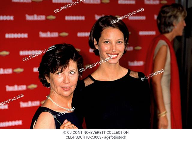 Christy Turlington and her mother at the Redbook Mothers and Shakers Awards, NYC, 9/10/2001, by CJ Contino