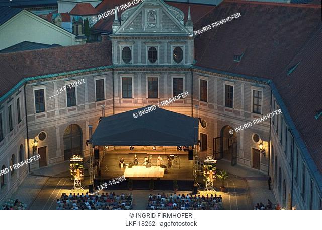 Open Air Concert, Brunnenhof, Residenz, former royal Residence, Munich, Bavaria, Germany