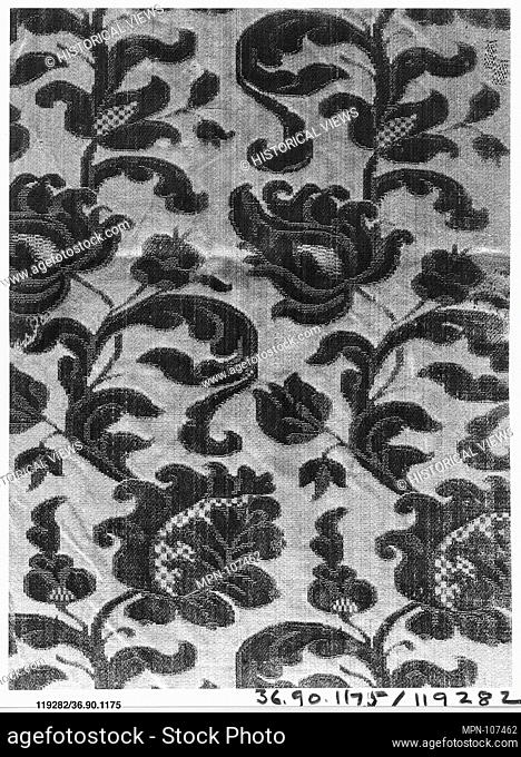 Piece. Date: early 18th century; Culture: possibly French; Medium: Silk; Dimensions: L. 22 1/4 x W. 11 inches (56.5 x 27