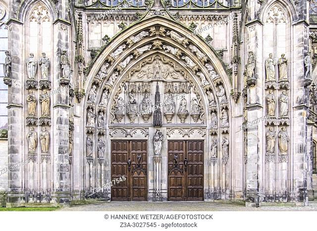 The north portal of the Cathedral Basilica of St. John the Evangelist, 's-Hertogenbosch, the Netherlands, Europe