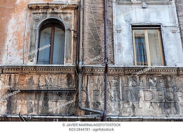 Via del Portico di Ottavia, Rome, Italy