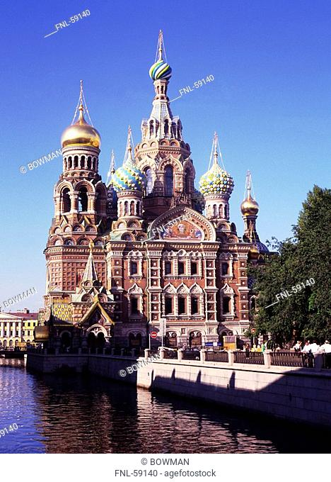 Facade of church, St. Petersburg, Russia, Europe