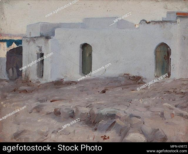 Moorish Buildings on a Cloudy Day. Artist: John Singer Sargent (American, Florence 1856-1925 London); Date: 1879-80; Medium: Oil on wood; Dimensions: 10 1/4 x...