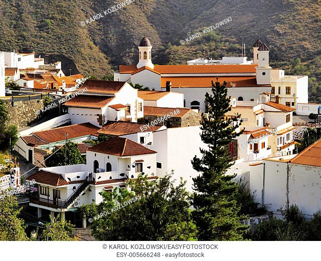 Tejeda, small town on Gran Canaria in the bottom of the Nublo Rock, Canary Islands, Spain
