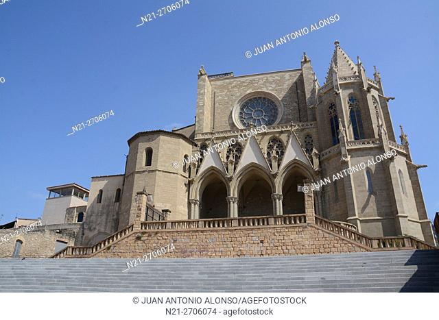 La Seu - the Cathedral - of the city of Manresa in the province of Barcelona, Catalonia, Spain, Europe