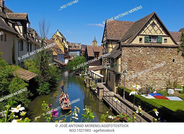 Colmar, Little Venice, La Petite Venise, Alsace, Wine Route, Alsace Wine Route, Haut-Rhin, France, Europe