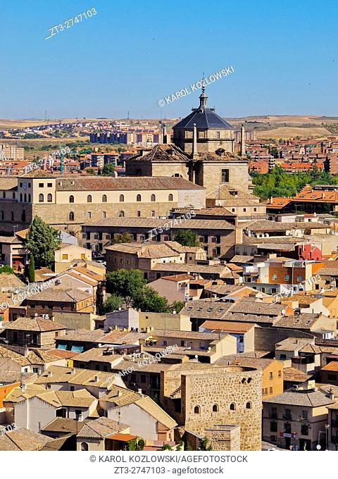 Spain, Castile La Mancha, Toledo, View towards the Hospital of Tavera.