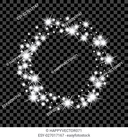 Creative concept Vector set of glow light effect stars bursts with sparkles isolated on black background. For illustration template art design