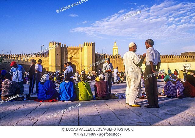 Pacha el Baghdadi square, Medina, UNESCO World Heritage Site, Fez, Morocco, Africa