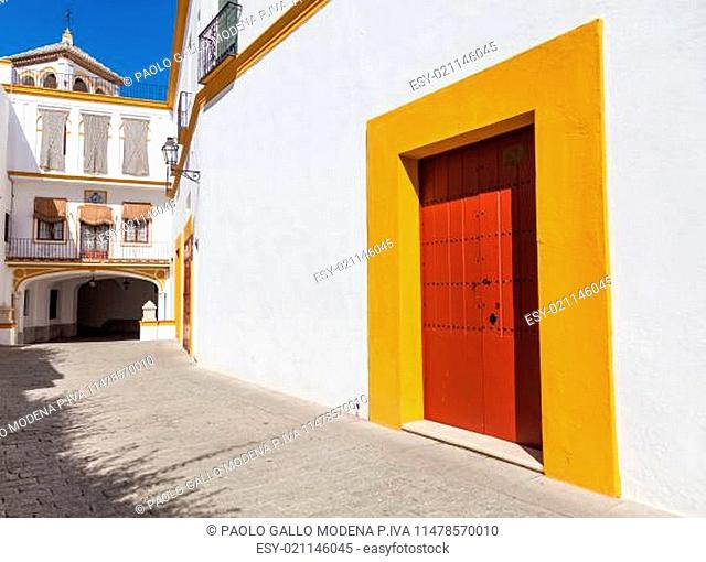 Detail of Plaza de Toros area in Seville - Andalusia Region - Spain