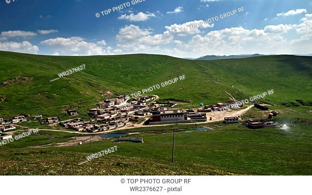 Heritage city Foreign Minister of the Tibetan incense temple Maqu County Gannan state Gansu Province China