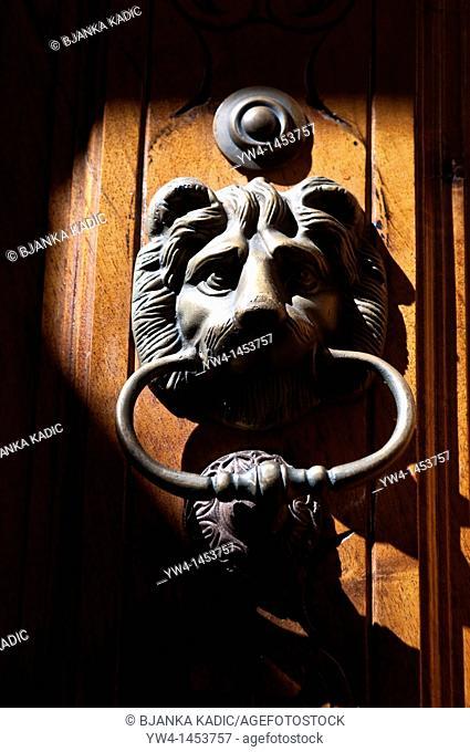 Door knocker, Malasana, Madrid, Spain