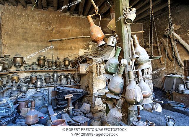 Inside a copper workshop, Lahic village, Azerbaijan