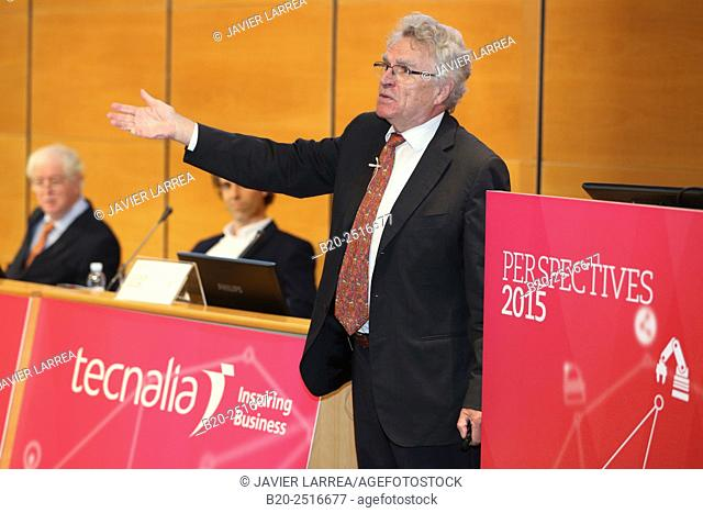 Dr. Niels Birbaumer, Professor at the University of Tubingen, Perspectives 2015. San Sebastian Technology Park. Donostia San Sebastian. Gipuzkoa