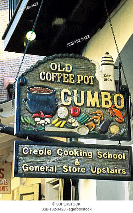 Old Coffee Pot Gumbo StoreFrench QuarterNew OrleansLouisiana, USA