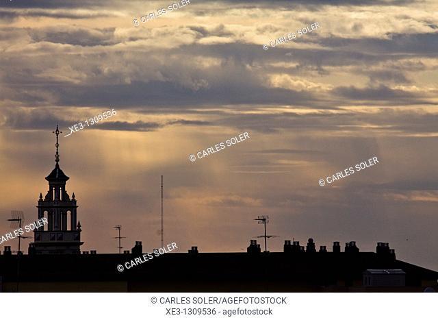 Catarroja's Skyline at sunset(Valencia, Spain)