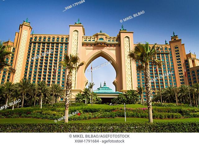 Facade  Atlantis, The Palm Hotel  Palm Jumeirah  Dubai city  Dubai  United Arab Emirates