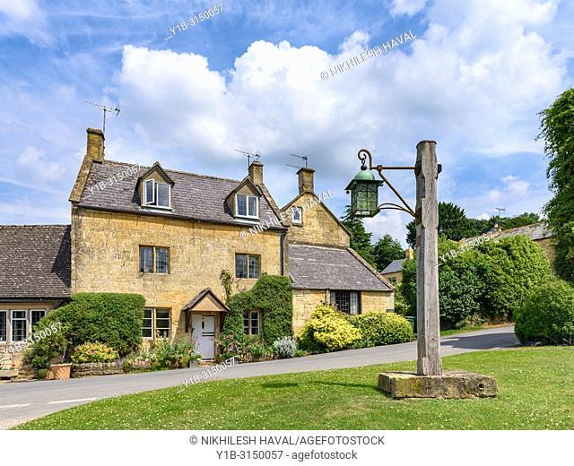 Stanton High Street, Cotswolds Village, UK