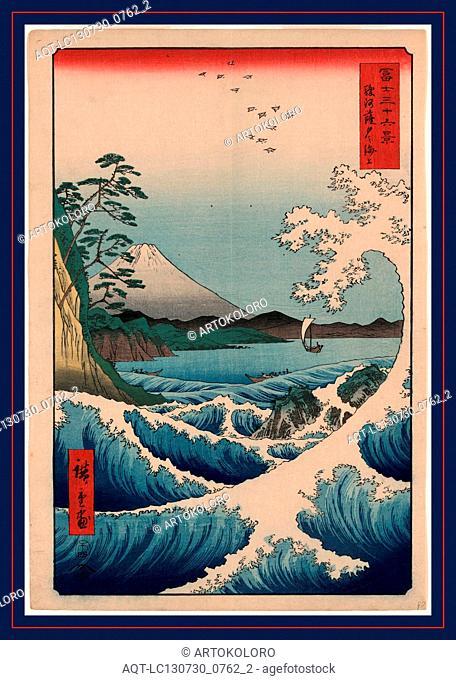 Suruga Satta no kaijo, Sea at Satta in Suruga Province., Ando, Hiroshige, 1797-1858, artist, [Tokyo] : Tsuta-ya Kichizo, 1858