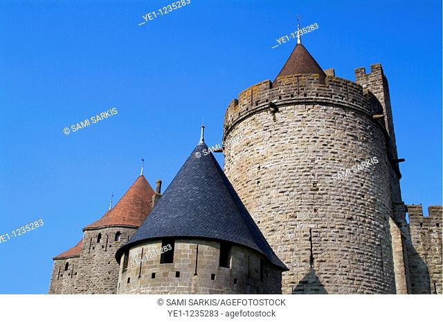 Main entrance to the medieval city, Carcassonne, France