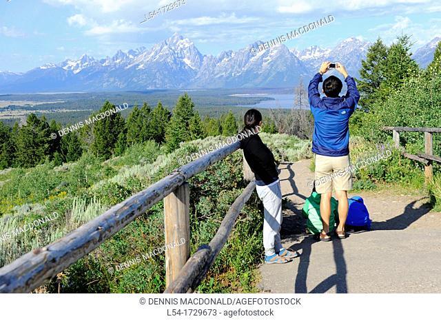 View of Jackson Lake Grand Teton National Park Wyoming WY United States