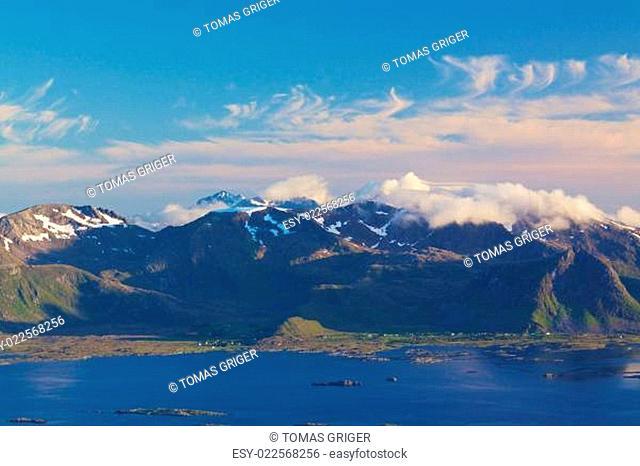 Scenic coastline on Lofoten
