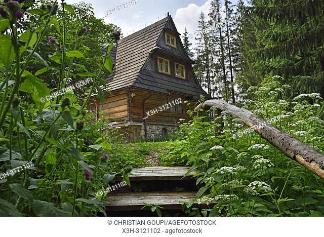 Lesniczowka u Zieby, a former forest house converted to a guesthouse and restaurant, located at the gate of the Chocholowska Valley, near Witow, Podhale Region