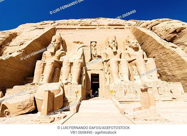 Abu Simbel, Great Temple of Ramses II. Egypt