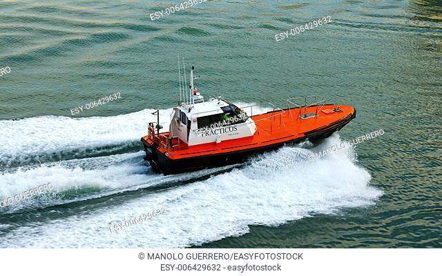 Motorboat speeding