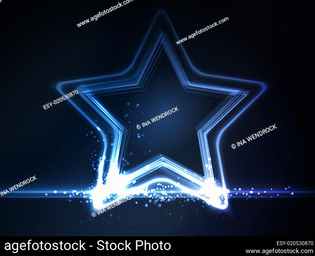 Blue glowing frame