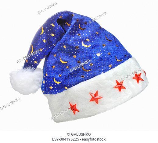 Hat Santa with ornament night sky