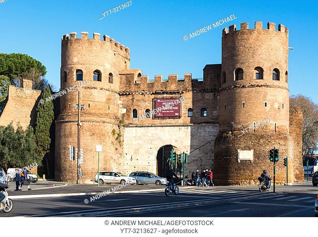 Porta San Paolo, Via Ostiense, Rome, Lazio, Italy, Europe