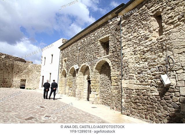 Church in Castelsardo, Sardinia, Italy