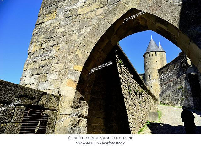 Aude gate of Carcassone, Languedoc-Roussillon, France
