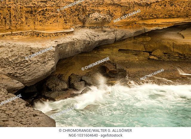 Küste, Lavagestein, El Puertito, Westküste, Teneriffa, Kanarische Inseln, Spanien, Europa