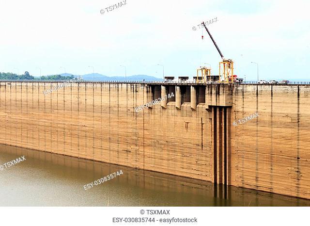 Dam of Khun Dan Prakan Chon In Thailland