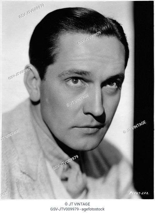 Fredric March, Head and Shoulders Publicity Portrait for the Film, All of Me, Paramount Pictures, 1934
