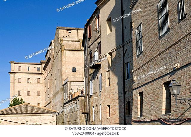 Historic buildings in Fermo, Marches region, Italy